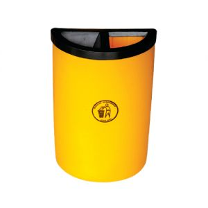 FOCUS 45 (RDC) Semi Round Bin c/w ½ Ashtray & ½ Open Top