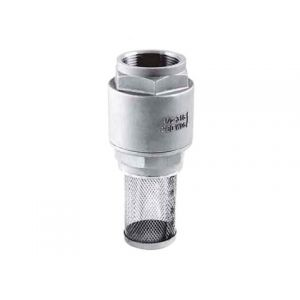 Stainless Steel 316 2pc Spring Check Foot Valve BSPT with Filter