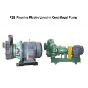 FZB Series FEP Plastic Lining Self-Priming Centrifugal Pump